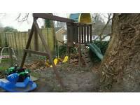 Childrens outdoor climbing frame