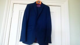 Teenagers suit, Blue, size 34R slim fit jacket, 30S slim fit trousers. Immaculate