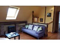 Beautiful characterful 1 bedroom apartment, rural location, 8 miles south of Princes Street.