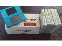 Nintendo DSi, Boxed with games.