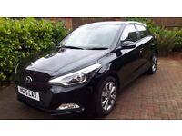 Hyundai i20 Black 7000 miles Excellent Condition FSH, Service Plan, LED lights Rear Parking Sensors