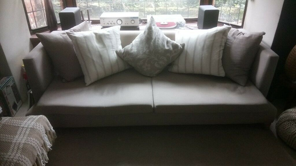 Remarkable Large Sofa 3 4 Seat Designer Sofa In Light Mink With Contrasting Cushions In Tiverton Devon Gumtree Gmtry Best Dining Table And Chair Ideas Images Gmtryco