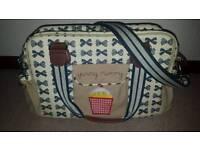 Yummy mummy pink lining change bag