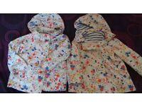 2x girls coats 2-3