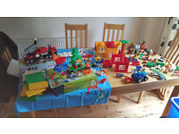 Massive Duplo Lego bundle mixed. Police, Fire, Fishing, Zoo, Buildings, vehicles and people