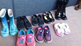 Girls's shoes, bundle size 11-12 f/g