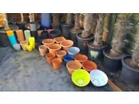 156 plastic teracota pots quality plant pots.Job lot.
