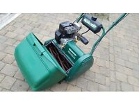 "Qualcast Classic 43s Lawnmower. 17"" cutting width. Self propelled. Rear roller."