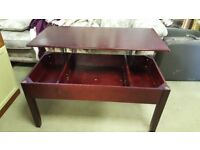 Mahogany Coffee Table With Storage