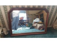 Mahogany framed mirror