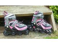IN LINE ROLLER BOOTS SIZE CHILD'S 12 TO 1