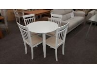 Julian Bowen Coast Dining Table & 4 Dining Chairs Can Deliver