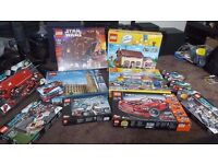 Various Lego sets. RETIRED SETS, simpsons, city, technic, star wars