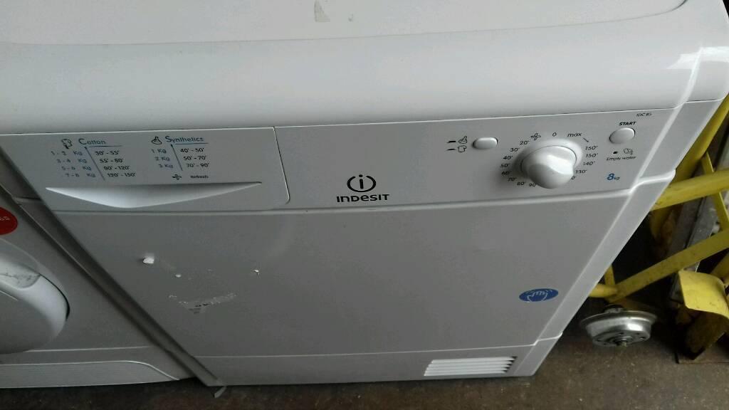 Indesit 8kg condenser dryer free nn delivery 3 months warranty