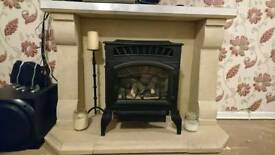 Gas fire place with surround
