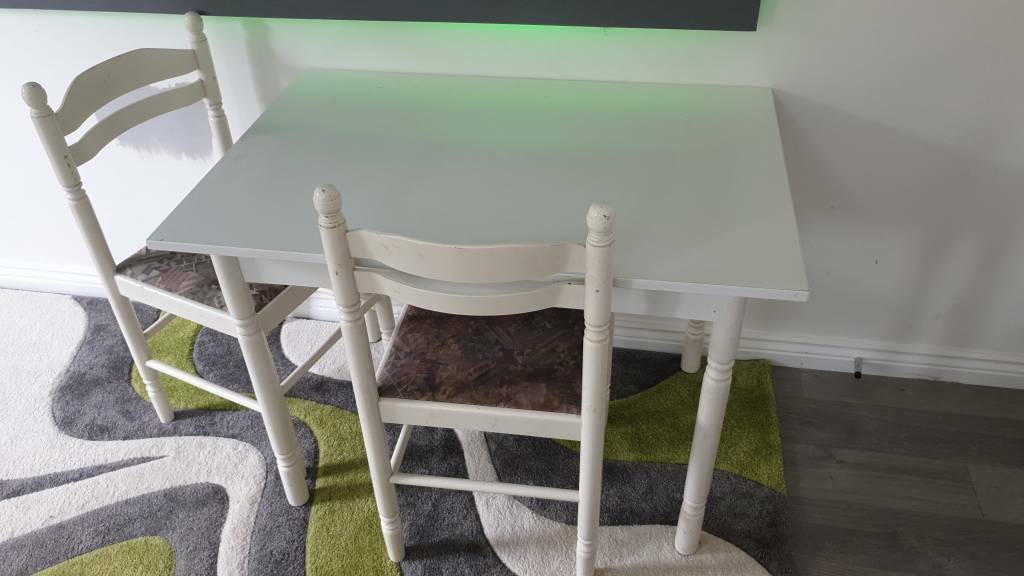 Small White Dining Table With 2 Chairs In Plymouth Devon Gumtree