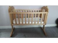 Mamas and Papas Wooden Swinging Crib / Cot