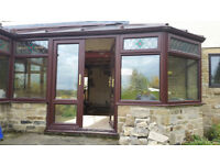 Rosewood UPVC conservatory already profesionally dismantled and ready for collection