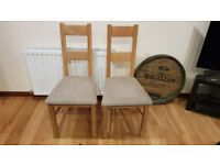 2 x Dining chair Farmhouse Rustic Oak