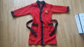 kids Manchester United dressing gown 9-10 years