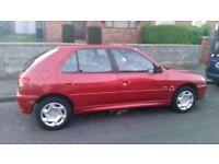 Peugeot 306 1.4 LX 5dr (sunroof) 12 months MOT £499