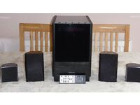 Onkyo 2.1/2.5 surround system with extras ie 2 extra Jamo speakers and bluetooth adapter