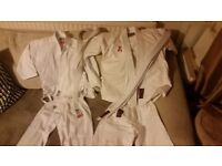 Child sport karate suit white cotton size 110cm and 120 cm