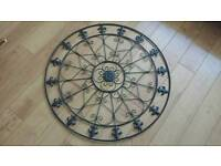 Large 3ft wide metal wall decoration