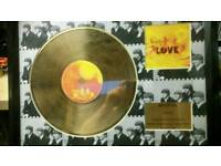 Beatles love 24ct gold xoated