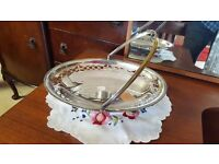 Silver Dish with Handle in Good Condition