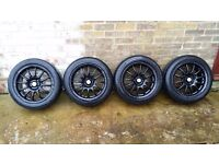 TEAM DYNAMICS staggered pro race alloy wheels 4x100