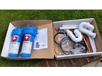 2 x NEW in box TECNIK water filter systems with all the fittings except the taps.
