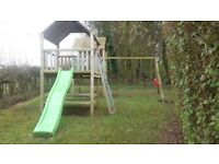 Large swing/play set. Fully dismantled and ready to go