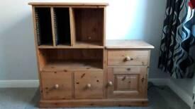 solid wood bedside media cupboard
