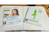 Wii fit board, wii fit & nutrition game bundle