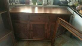 Sideboard corner unit and mirror