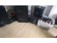 Dj lighting speakers and stands and microphones job lot