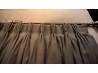 French Pleated Hand Made Lined &Interlined Curtains & Brushed Chrome Pole