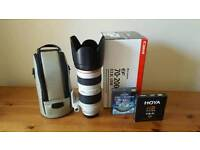 (open to offers) 70-200mm f2.8 Canon L Series EF lens + two brand new Hoya filters