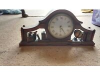 Antique quartz wooden clock