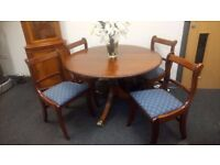 Gorgeous carved edged solid mahogany table and chairs £120 CHEAP local DELIVERY Stalybridge SK15