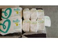 145 Size 2 Pampers nappies