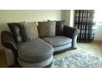 DFS 3 SEATER SOFA, CUDDLE CHAIR & FOOTREST