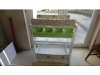 Baby changing unit and baby crib and mattress