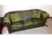 GREEN CHESTERFIELD OR WINGBACK WANTED