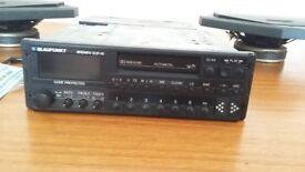 Blaupunkt Bremen SQR 49 + BQB 80 amp + DL 1650 speakers Vintage car stereo package ..Porcshe 911 BMW
