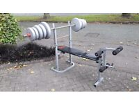 PRO POWER WEIGHTS BENCH & 62KG
