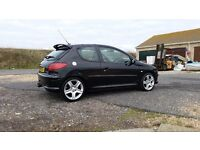Peugeot 206 GTI 180HP Cheap good looking HOT HATCH with low milage and full service history