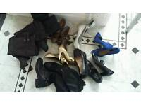 Job lot of shoes and boots