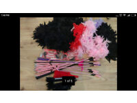 HEN PARTY FEATHER BOAS, RIDING CROPS, FANS AND TASSELS